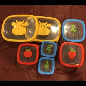 7 Assorted Food Storage Containers 🐮 🍅 🌿